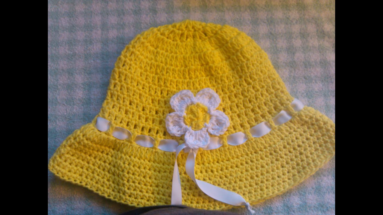 Free Crochet Patterns Baby Swaddlers : Easy to crochet sun hat / summer hat/ gorra para el sol y ...