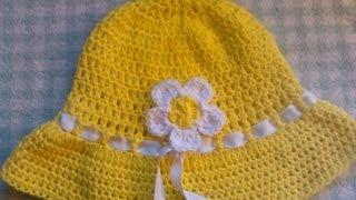 Repeat youtube video Easy to crochet sun hat / summer hat/ gorra para el sol y verano