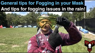 How To Stop a Paintball Mask from Fogging