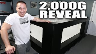 2,000G aquarium reveal - IT'S READY FOR WATER!!! thumbnail