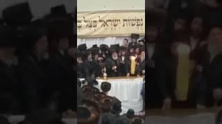 Viznitz Rebbe Making Havdalah - Kislev 5777