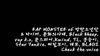 RAP MONSTER of 방탄소년단 & ..... - Check the voice