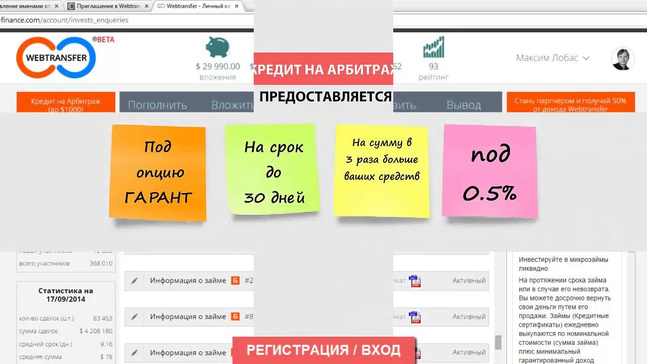 Как взять кредит webtransfer онлайн калькулятор кредита сбербанка