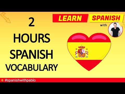 Spanish Vocabulary And Phrases For 2 Hours.Learn Spanish With Pablo.