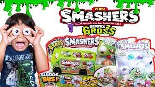 NEW ZURU SMASHERS SERIES 2 GROSS  SLIMEY SMASH EYEBALL SURPRISE TOYS ULTRA RARE Toy Review