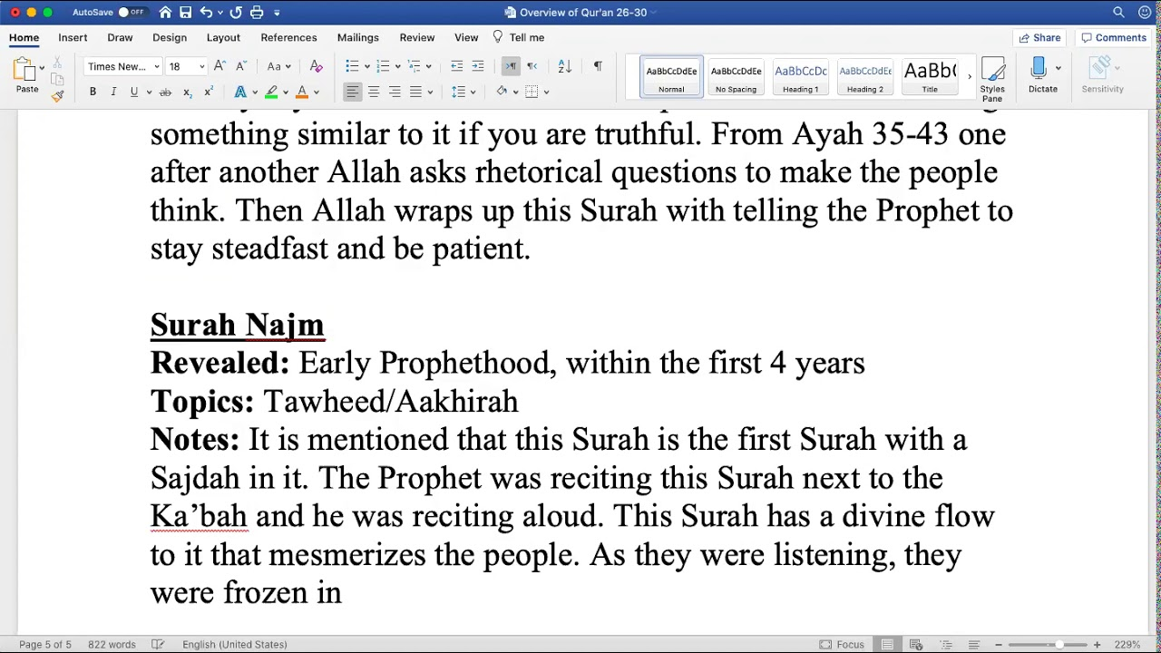 Sh. Zubair || Quranic Overview (Juz 27)