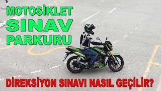 Motosiklet ehliyeti Direksiyon sınavı ve sınav Parkuru 2019