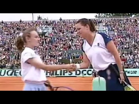 Martina Hingis vs Lindsay Davenport 1995 RG Highlights