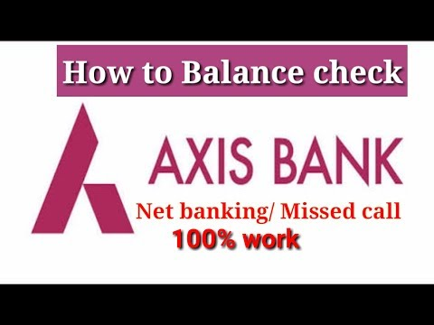 Axis Bank Balannce Check | How To Axis Bank Balance Check Tech Talks #003