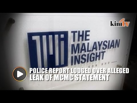 TMI Chief Claims Statement Made To MCMC Leaked