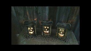 Making Halloween Lanterns