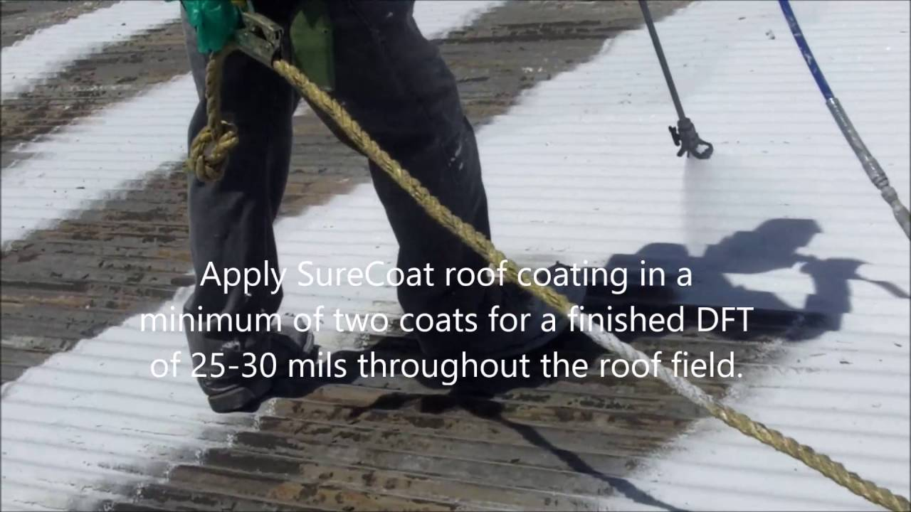 How To Install A Roof Coating System   Metal Roof Restoration
