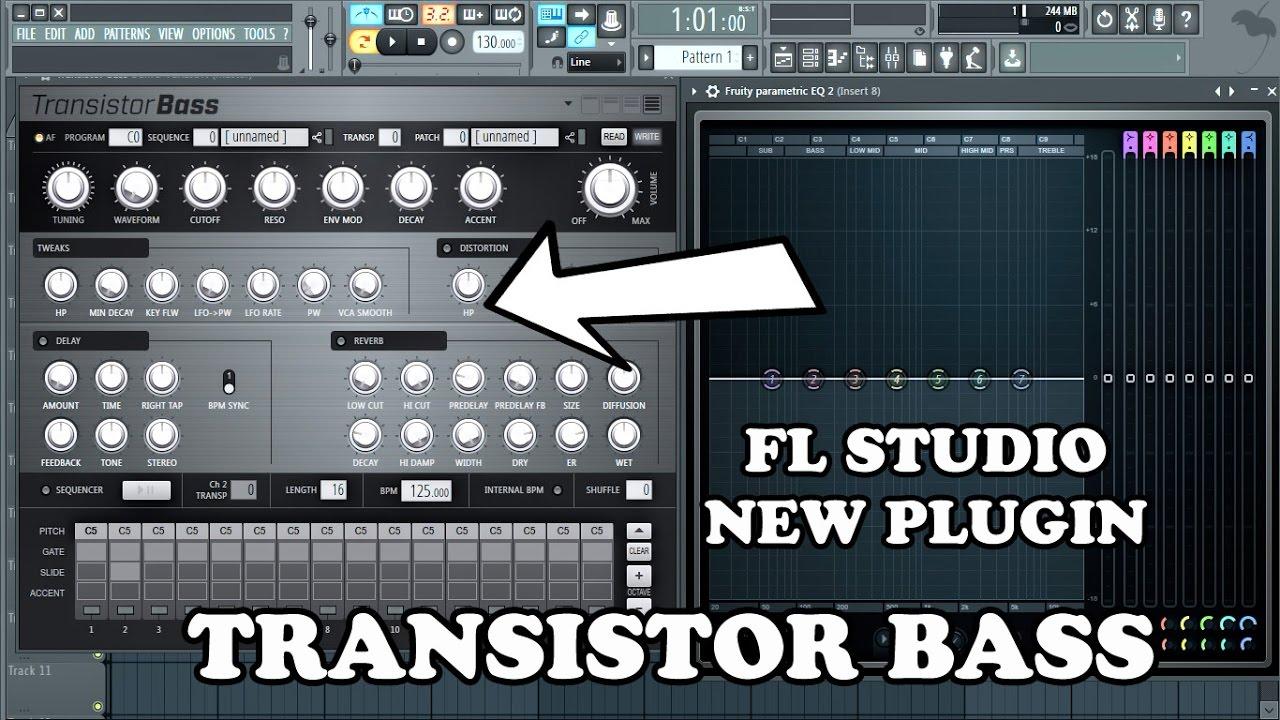 FL Studio 12.3.1 New Plugin Transistor Bass First Look - YouTube