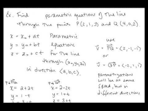 Calc III Lesson 05 Lines in Three Dimensional Space.mp4