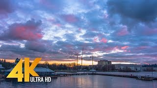 4K Relaxing Sunset at Gene Coulon Memorial Beach Park - 3 Hours Chillout Music