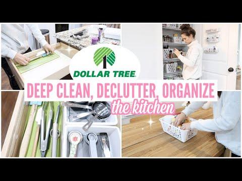 DOLLAR TREE KITCHEN ORGANIZATION 2019 // DEEP CLEAN, DECLUTTER, ORGANIZE // CLEAN WITH ME 2019