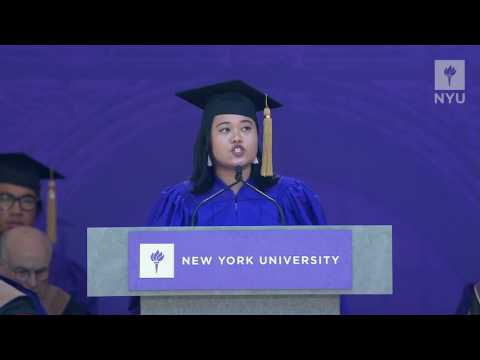 NYU Commencement 2017 Student Speaker Roxanne A. Roman