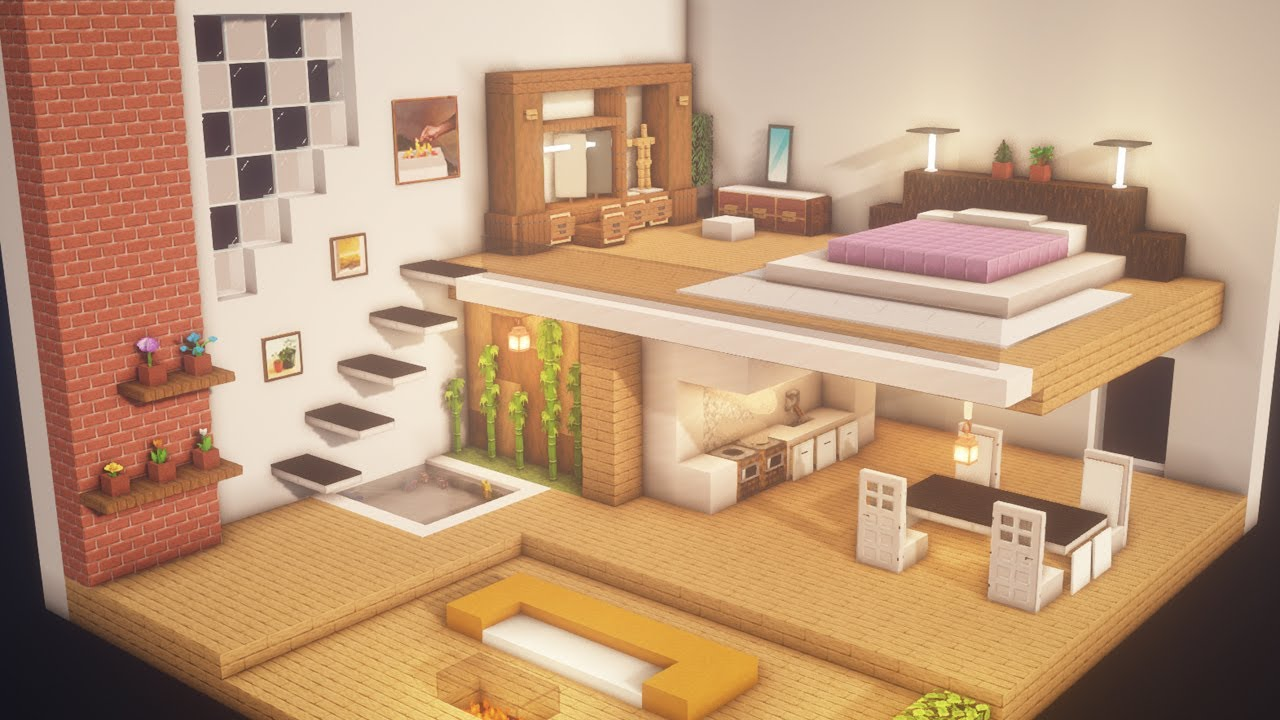 Minecraft Modern Room Tutorialㅣinterior 2 Youtube