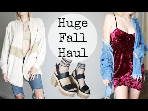 FALL CLOTHING HAUL + TRY ON, Free People, LF / Kallie Kaiser