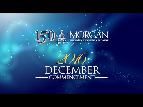Morgan State University 2016 December Commencement