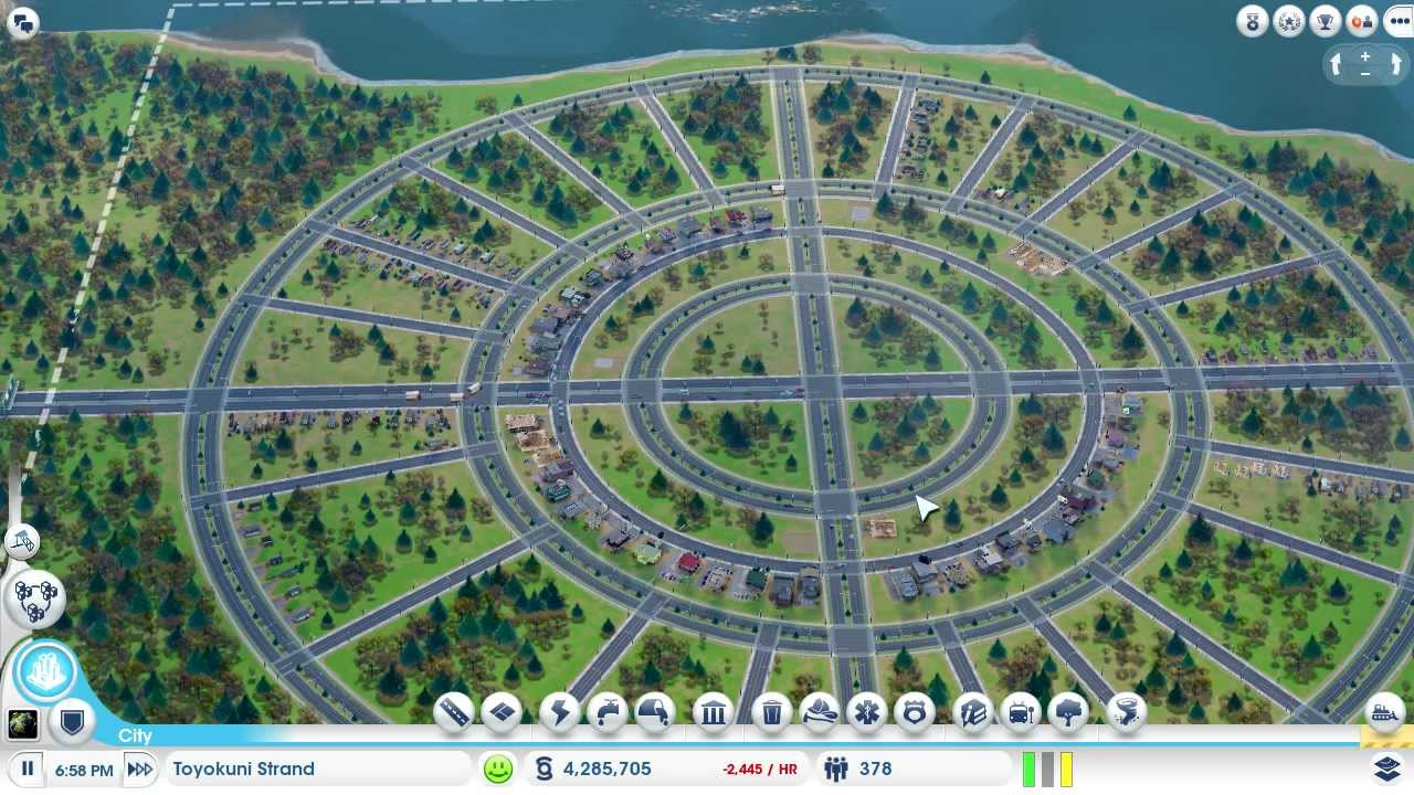 SimCity (5 or 2013?) Playing Sandbox Mode GAMEPLAY ONLY - YouTube