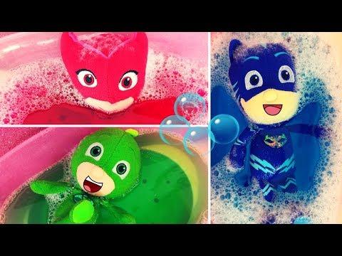 I Super Pigiamini fanno il bagnetto nell'acqua magica ✨ [Video per bambini]