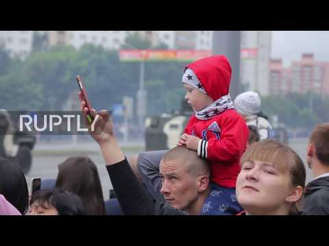 Belarus: Sofas, tractors and tanks participate in Belarus Independence Day parade