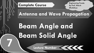 Beam Angle & Beam Solid Angle, Antenna Parameter in Antennas & Wave Propagation by Engineering Funda