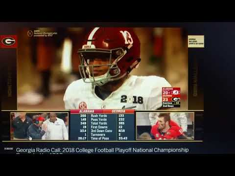 UGA radio gets instant karma. Alabama vs Georgia National Championship