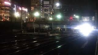 2019.7.10名鉄新形式9500系9501F舞木検査場へ深夜の搬入回送EL120形PP牽引 金山駅発車