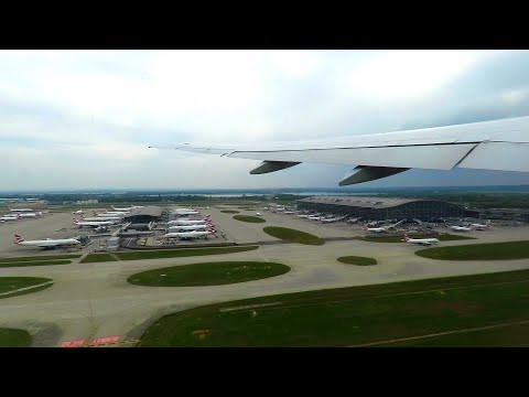 Air New Zealand Boeing 777-300ER Takeoff From London Heathrow To Los Angeles (NZ1)