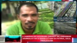 NTL: 2 cameraman na kasamang dinukot ng Jordanian journalist na si Baker Atyani, pinalaya na