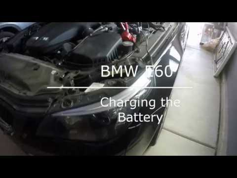 bmw e60 5 series battery charge youtube. Black Bedroom Furniture Sets. Home Design Ideas