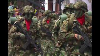 Imponente desfile militar por el 20 de julio en Medellín
