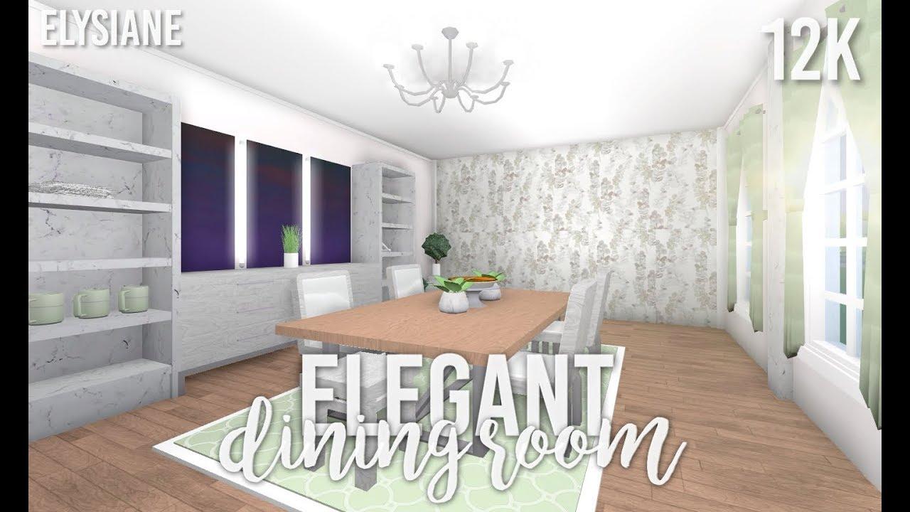 Bloxburg: Elegant Dining Room - YouTube