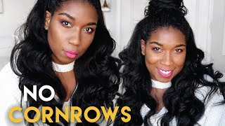 Glamorous Protective Hairstyle w/ Clip-In Extensions - NO CORNROWS | Natural Hair