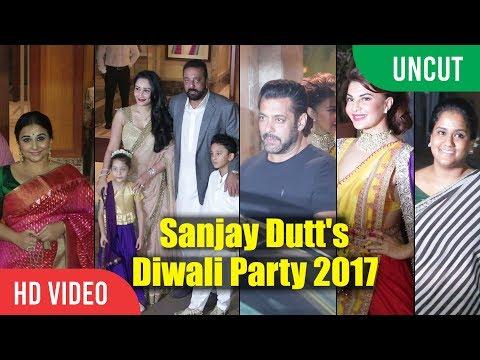 Sanjay Dutt Ki Diwali Party 2017  Salman Khan, Arpita Khan, Jacqueline, Vidya Balan  Night Party