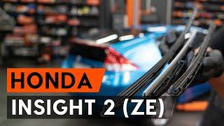 Kuinka vaihtaa pyyhkijänsulat HONDA INSIGHT 2 (ZE) -merkkiseen autoon [AUTODOC -OHJEVIDEO]