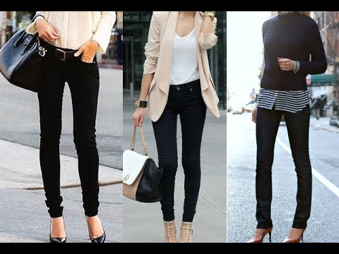 how to wear skinny jeans with heels  youtube