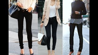 How to wear skinny jeans with heels