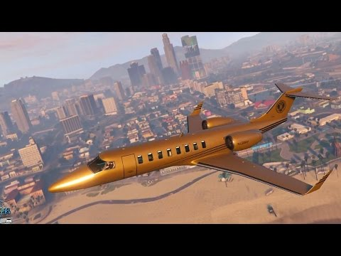 Grand Theft Auto 5 Multiplayer - $10 MILLION GOLD JET! (GTA