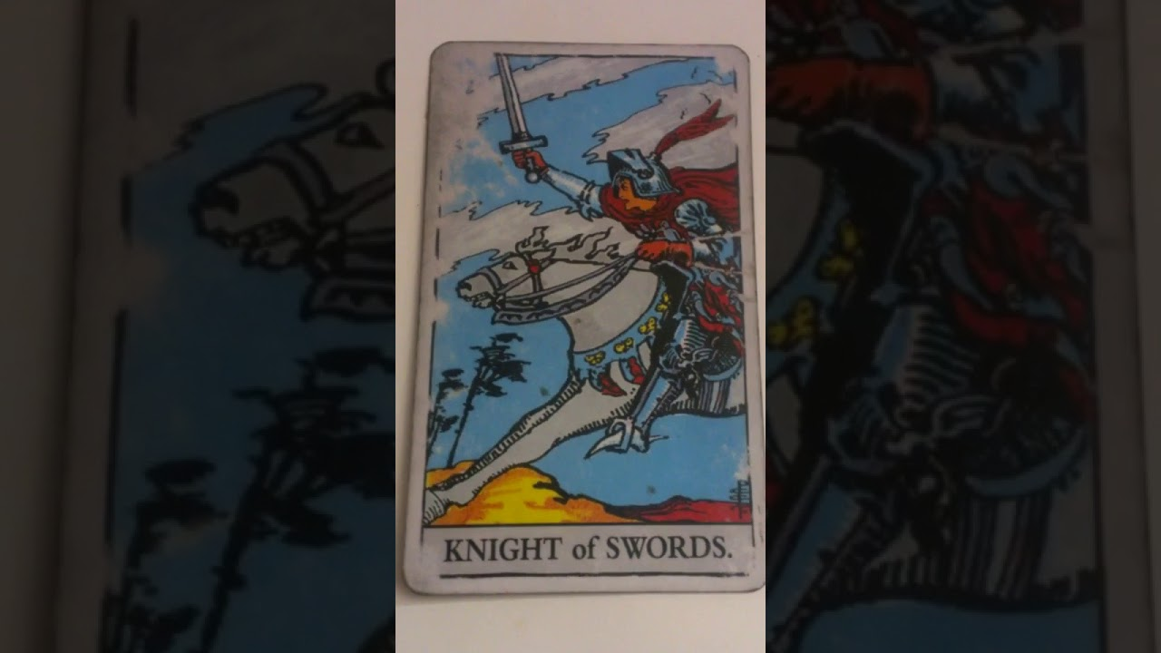 The Knight of Swords as Feelings in a Love Reading