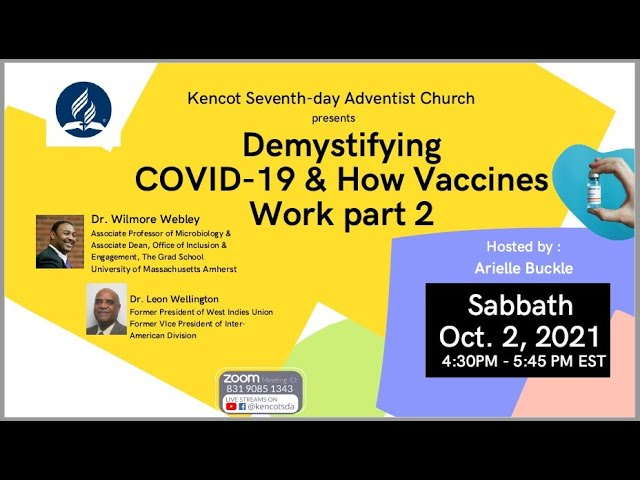 Bible Study,  Adventist Youth - COVID-19 & Vaccines ,Vespers Services -  Oct 2, 2021 - Kencot SDA