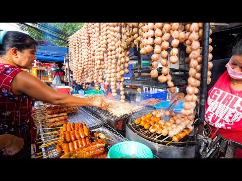 Street Food in Thailand – NIGHT MARKET Thai Food in Chiang Mai, Thailand!