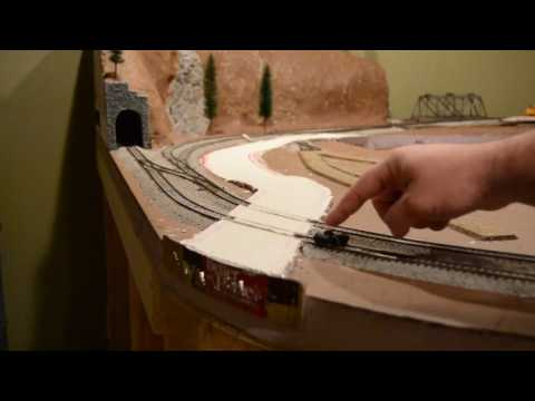 Building a HO scale road using sheet rock mud..