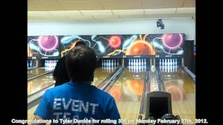 Tyler Dunkle rolls 300 at Sun Valley Lanes on February 27, 2012.