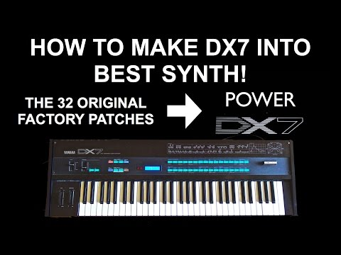 The Battle of Yamaha DX7 Synthesizer - The 32 Original Factory Patches VS Power DX7 Patches