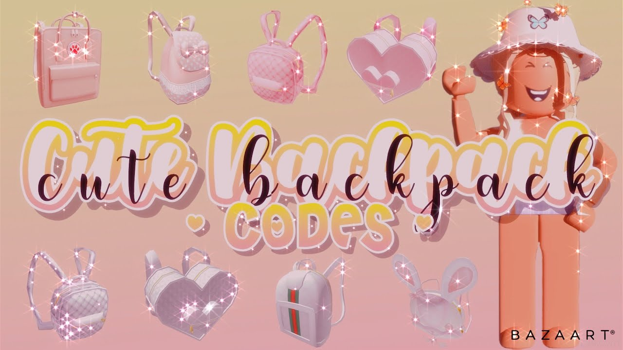White Luxury Backpack Roblox Code Cute And Aesthetic Backpack Codes Roblox Bloxburg Youtube