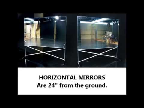 Glassless Dance Mirrors On Wheels, Portable And Rollable For Ballet, Etc    YouTube