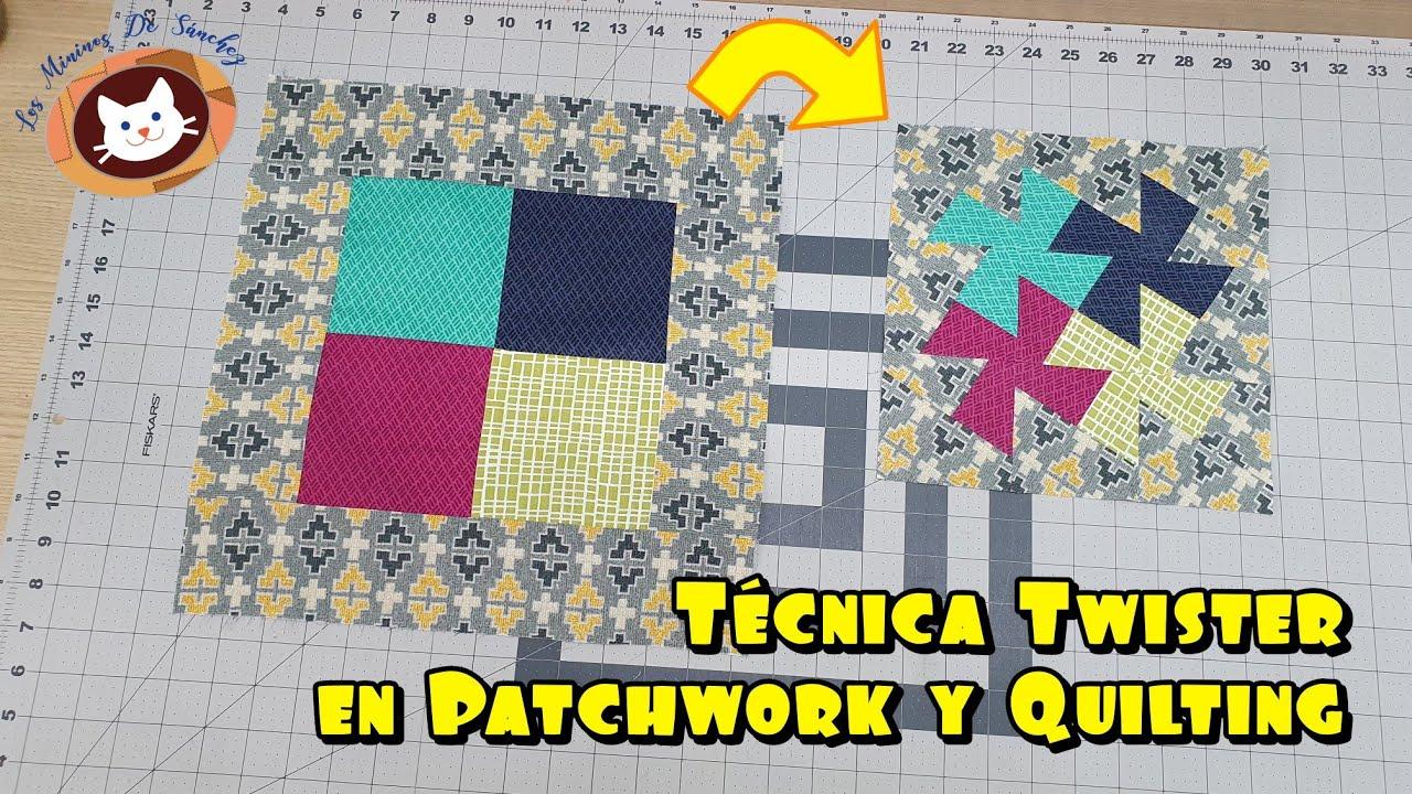 Técnica Bloque Twister en Costura de Proyectos de Patchwork y Quilting